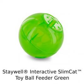 Staywell(R) Interactive SlimCat(TM) Toy Ball Feeder Green